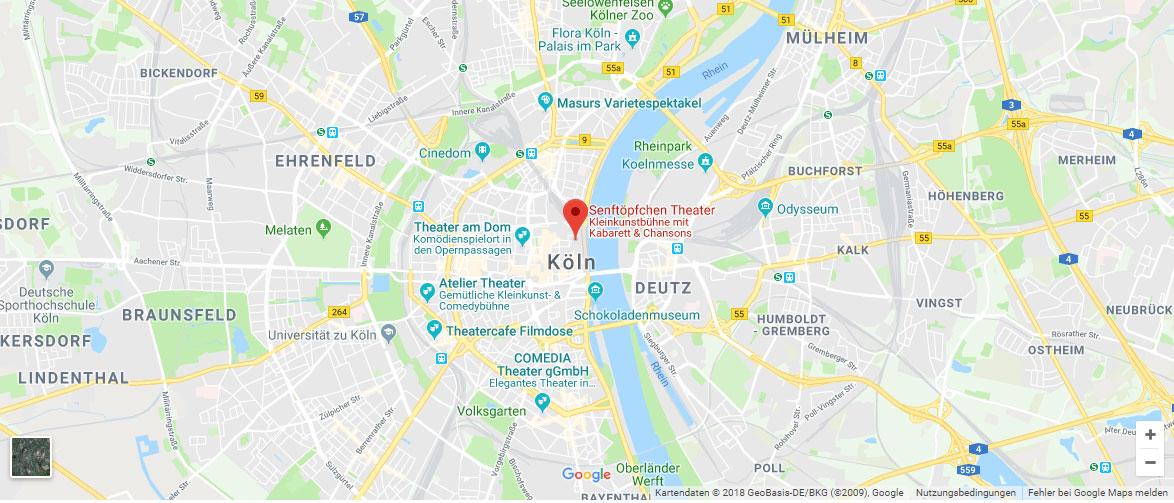 Senftöpfchen Theater Köln Anfahrt